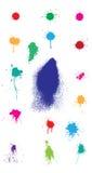 Splatter colorato Immagini Stock