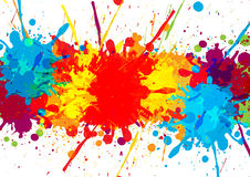 Splatter colorful  with paint stains  background,  abstrac. T background Stock Images