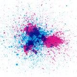 Splatter colorido da tinta Imagens de Stock