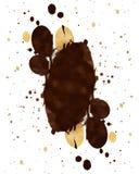 Splatter del caffè illustrazione di stock