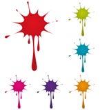 splatter dell'inchiostro di colore Immagine Stock Libera da Diritti