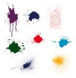 splatter dell'inchiostro di colore   Fotografia Stock Libera da Diritti