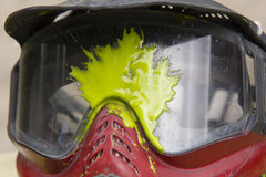 Splatter di Paintball Immagine Stock