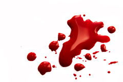 Splatter di sangue Fotografia Stock Libera da Diritti