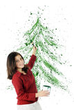 Splatter do Natal Fotos de Stock Royalty Free