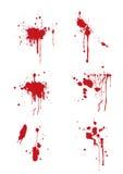 Splatter do sangue Imagens de Stock Royalty Free