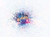 Splatter-Explosion-Halbtonbild Stockfotografie