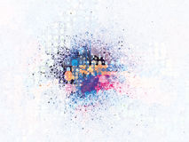 Splatter Explosion Halftone. Background created from bright colors stock illustration