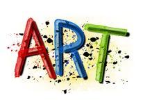 splatter för målarfärg för konstgrungelogo Royaltyfria Foton