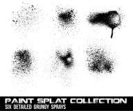 splatter för samlingsgrungemålarfärg Arkivbild