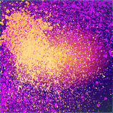 Splatter farba połysku neonową dekorację akrylową, pyłu przepływ, royalty ilustracja