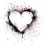 splatter för grungehjärtamålarfärg Arkivbild