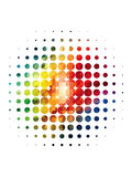 Splatter Halftone Dots. Made from Bright Colors Royalty Free Illustration