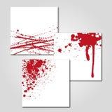 Splatter krew Zdjęcia Royalty Free