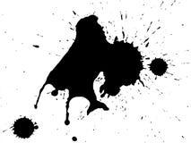 Splatter nero dell'inchiostro Fotografia Stock