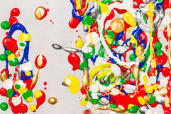 Splatter paint background Stock Photo