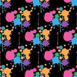 Splatter paint background Abstract  Seamless pattern. 10 eps stock illustration