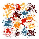 Splatter Paint Vector. Drip Art Stock Image