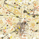 Splatter paint wallpaper. Abstract grunge vector seamless pattern stock illustration