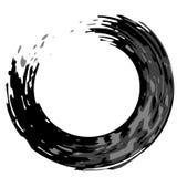 Splatter preto do círculo de Grunge ilustração stock