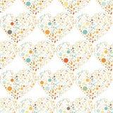 Splatter serc powierzchni bezszwowy wzór royalty ilustracja
