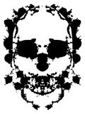 Splatter skull Royalty Free Stock Photo
