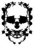 Splatter skull stock illustration
