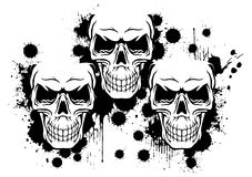 Splatter skulls Royalty Free Stock Images