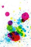 Splatter variopinto dell'inchiostro Fotografia Stock Libera da Diritti