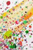 Splatter variopinto della vernice fotografie stock