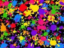 Splatter wallpaper. Colourful graffiti paint splatter wallpaper background design Stock Photo
