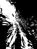 Splattered background. White on black royalty free illustration