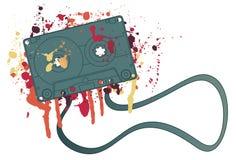 splattered band för kassett färgpulver Arkivfoton