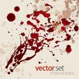 Splattered blodfläckar, set 1 Arkivbild