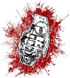 splattered blodgranat Arkivfoto