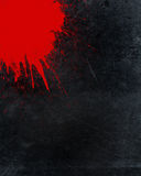 Splattered blood and grunge background Stock Image