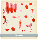 Splattered blood stains Royalty Free Stock Photo