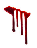Splattered blood stains on white background Royalty Free Stock Photo
