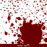 Splattered Blutflecke Stockfoto