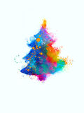 Splattered Christmas Tree Royalty Free Stock Image