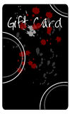 Splattered Gift Card. Gift card for shopping drawn in Illustrator CS2 Royalty Free Stock Image