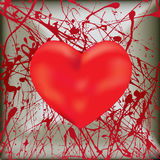 Splattered Heart Royalty Free Stock Photography