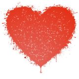 Splattered heart Royalty Free Stock Images