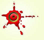 Splattered juice Royalty Free Stock Image