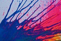 splattered kanfasmålarfärg Arkivbild