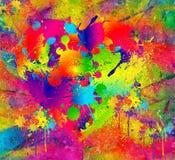 Splattered målar Abstrakt bakgrund som liknar den våta plaskade målarfärgmodellen Royaltyfria Foton