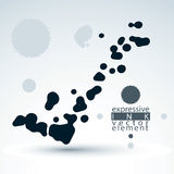 Splattered monochrome web design element, art ink blob, paintbru Royalty Free Stock Photos