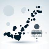 Splattered monochrome web design element, art ink blob, paintbru Royalty Free Stock Photos