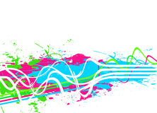 Splattered Paint Background stock illustration