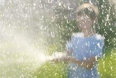 Splattering water Royalty Free Stock Images
